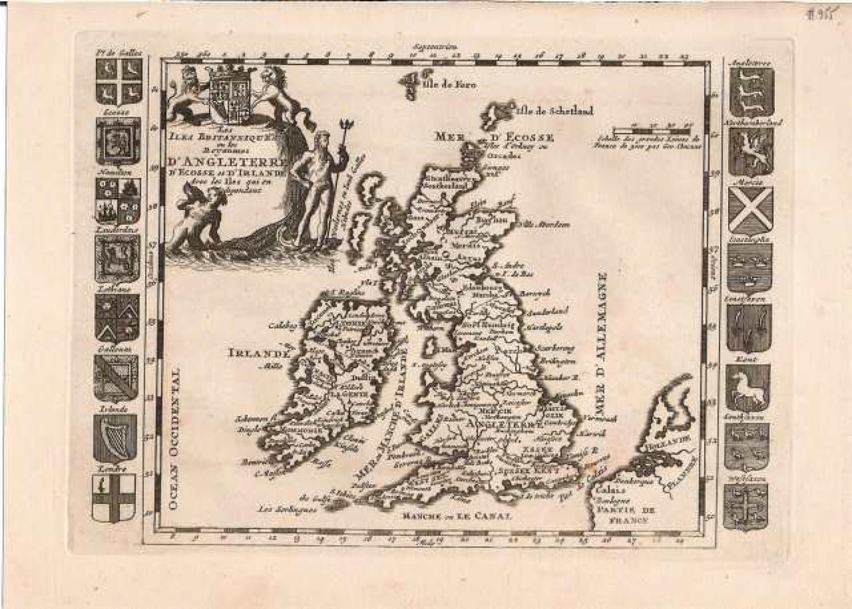 SOLD Les Iles Britannique ou les Royaumes d'Angleterre, d'Ecose, et d'Irlande avec les Isles qui en dependent