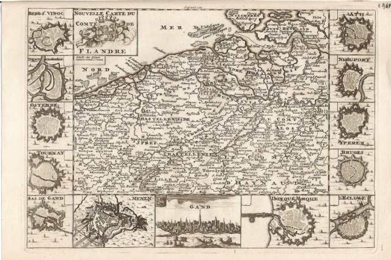 SOLD Nouvelle carte du Comte de Flandre