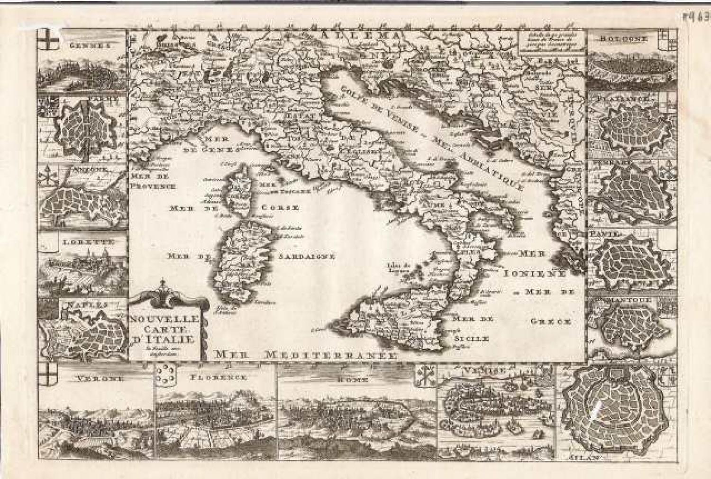 SOLD Nouvelle Carte d'Italie