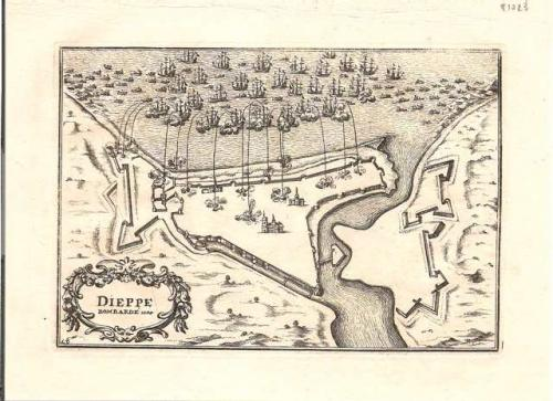 SOLD Dieppe bombarde 1694