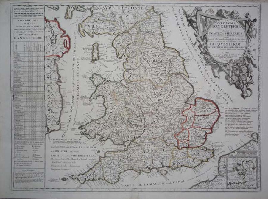 Coronelli / Nolin Le Royaume D'Angleterre
