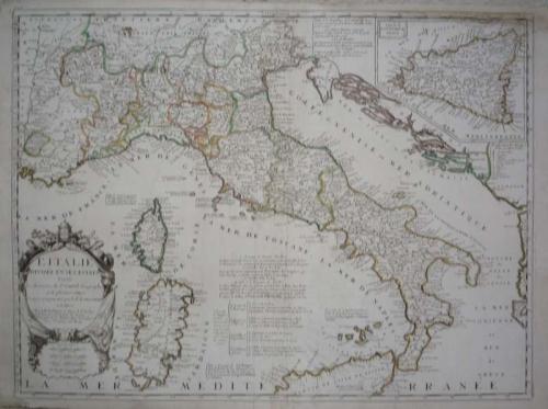 SOLD L' Italie divisée en ses Estats