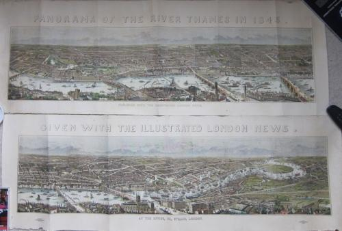 SOLD Panorama of the River Thames in 1845