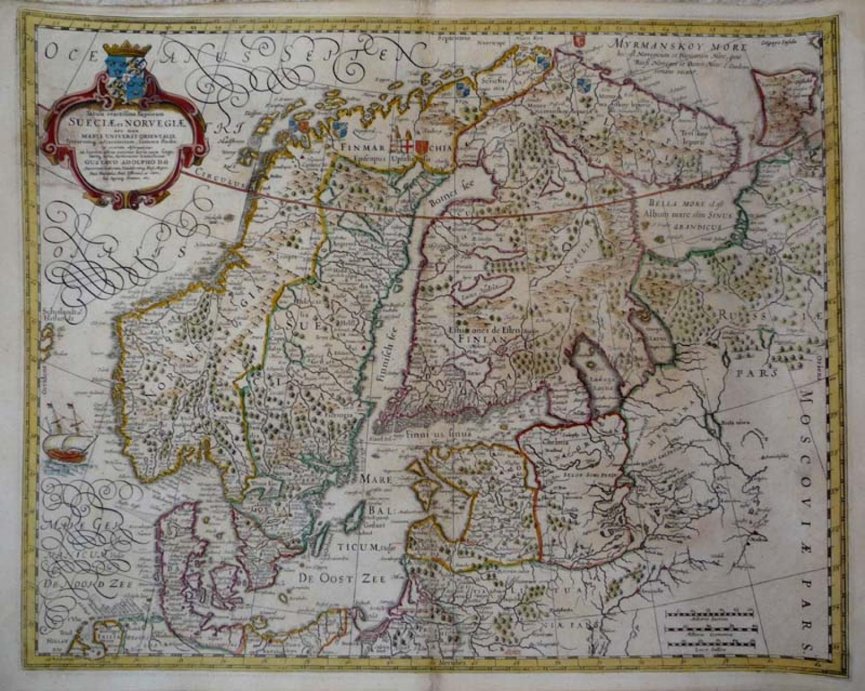 SOLD Tabula exactissima Regnorum Sueciae et Norvegiae