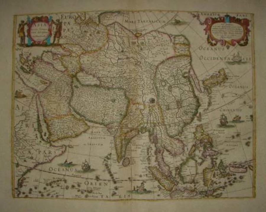 Hondius - Asia recens summa cura delineata