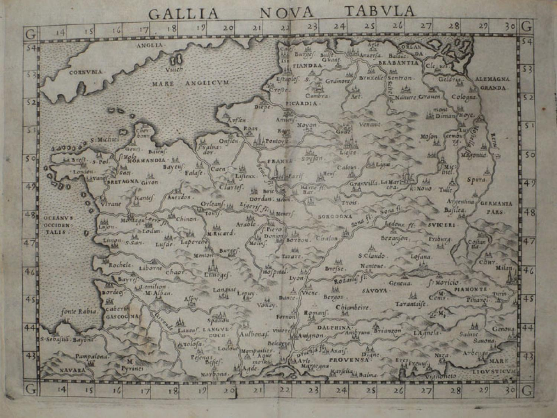 Ruscelli - Gallia Nova Tabula