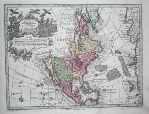 Seutter - Orbis sive America Septentrionalis