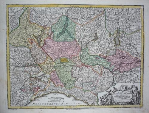 Seutter - Ducatus Mediolanenis