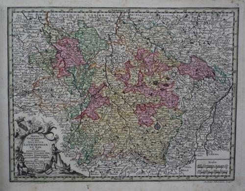 Seutter - Ducatus Lotharingiae