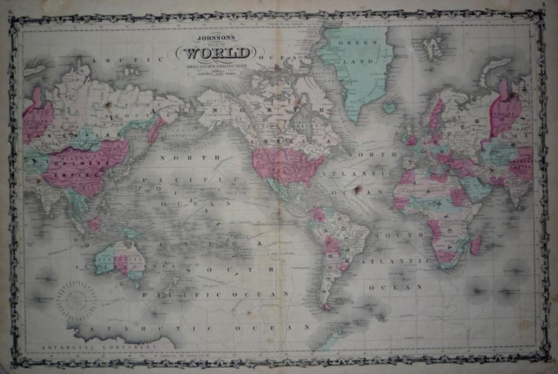 SOLD Johnson's World - Mercators Projection