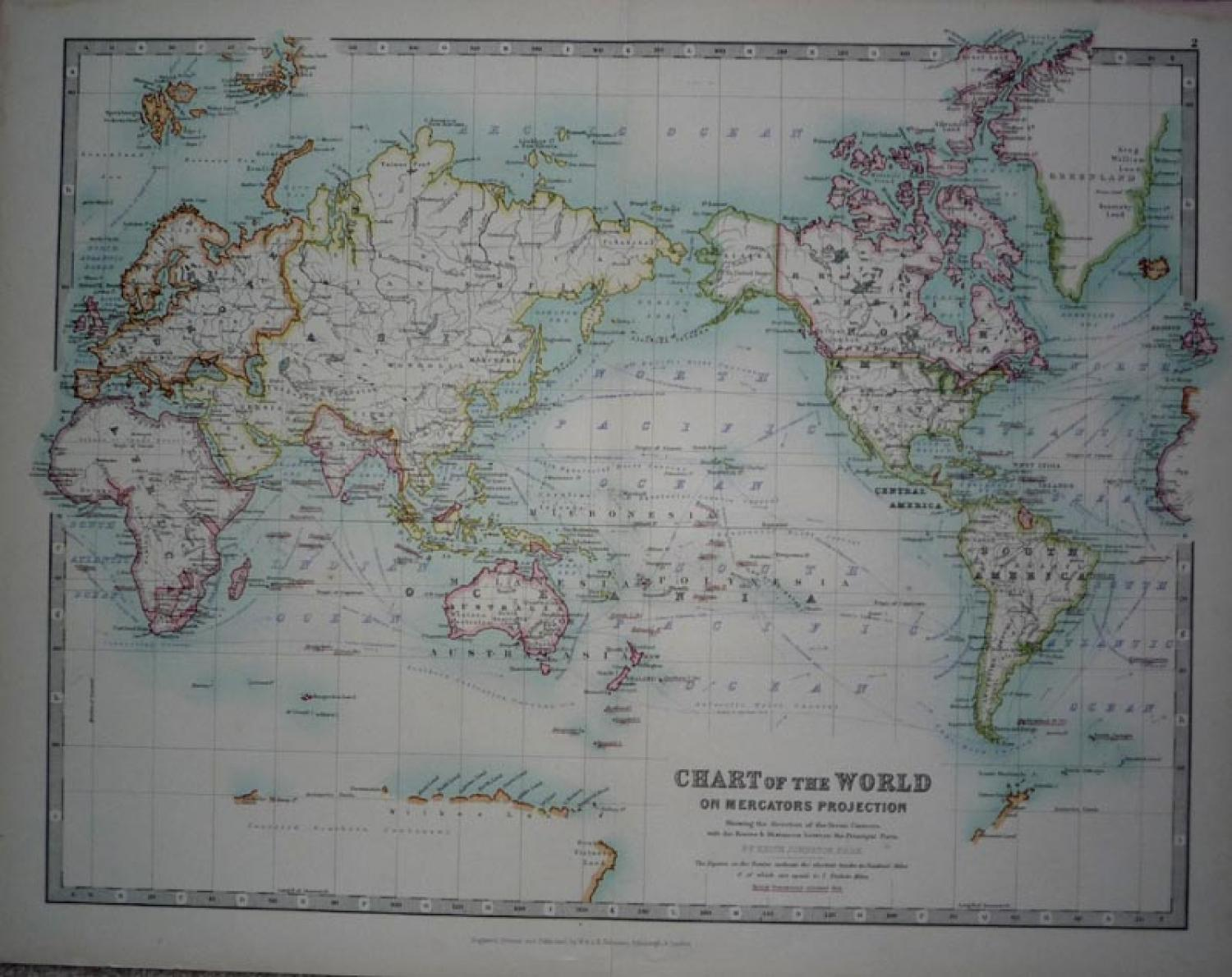 SOLD Chart of the World on Mercator's Prpjection