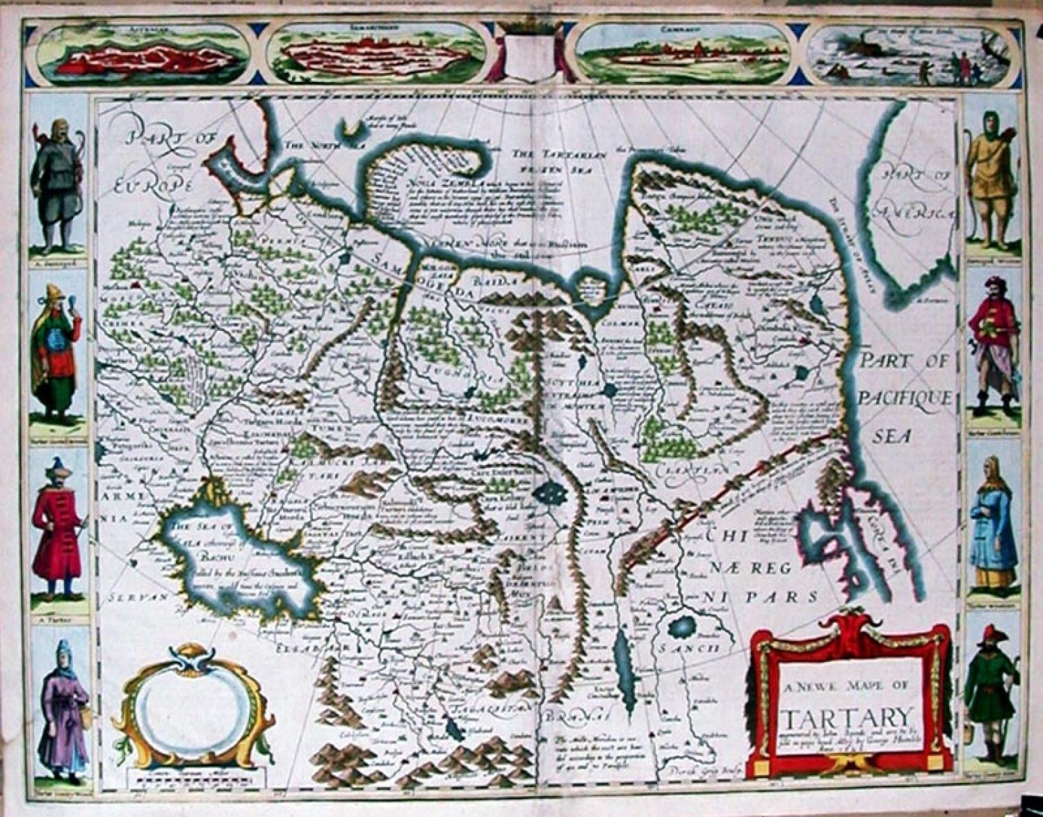 SOLD A newe map of Tartary