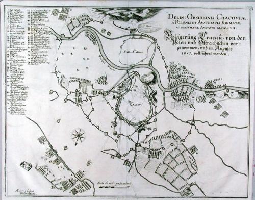SOLD Belagerung Cracau von den Polen und Ostreichischen … 1657