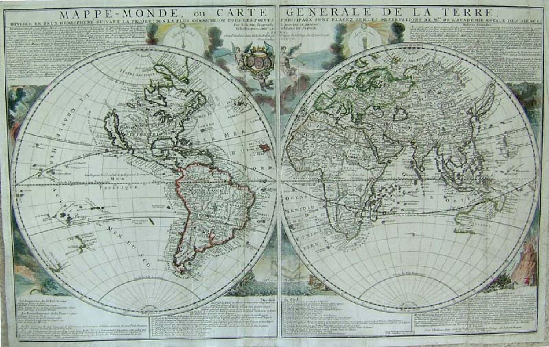 De Fer - Mappe-Monde, ou Carte Generale