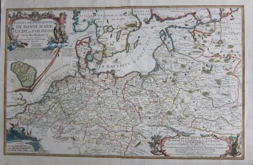 SOLD Estats des Couronnes de Dannemark, Suede, et Pologna sur la Mer Baltique