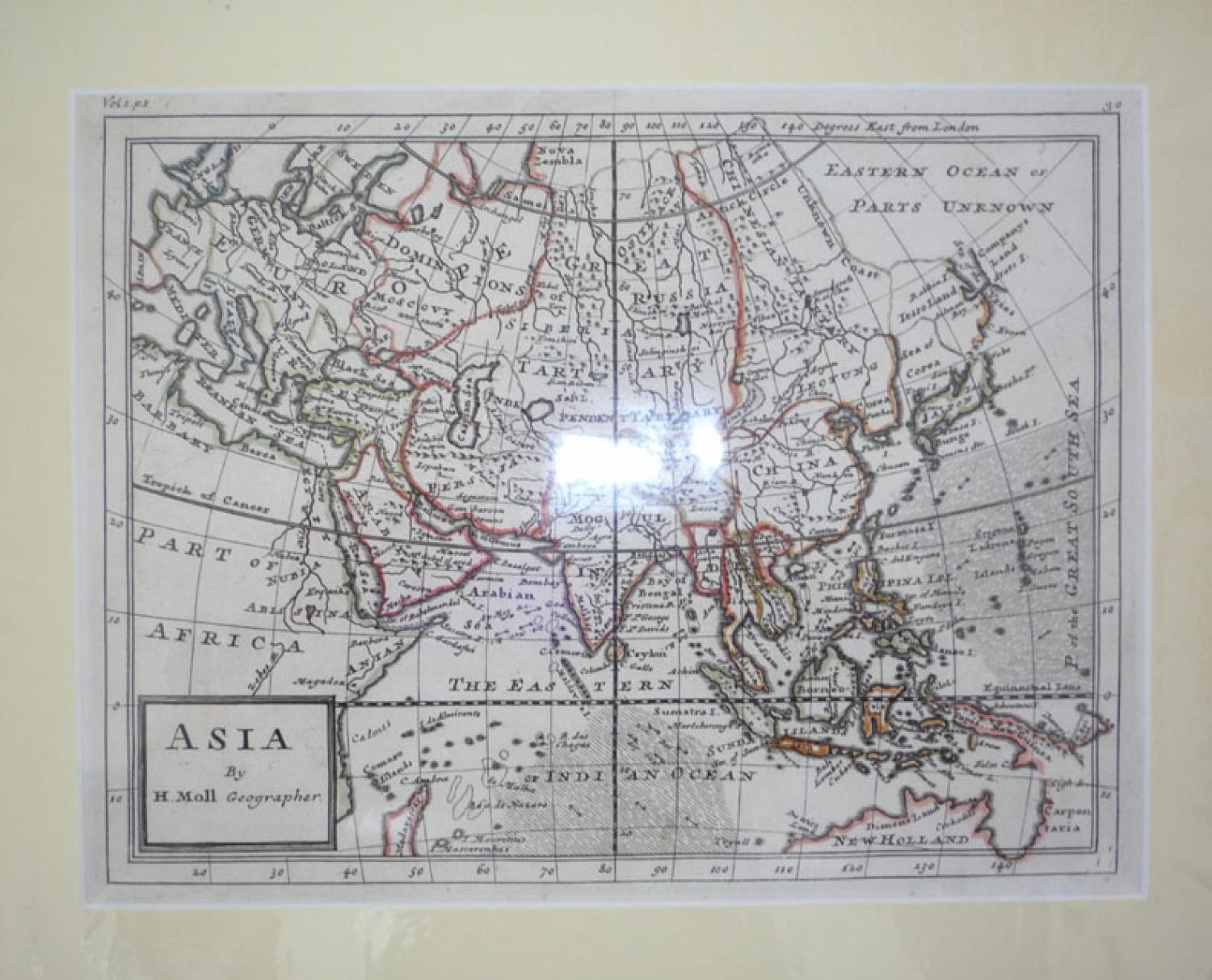 Map Of Upper Asia.Moll Asia In Asian Continent