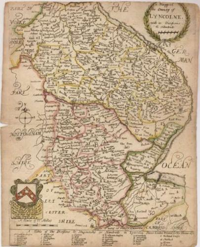 Blome - A Mapp of the County of Lyncolne
