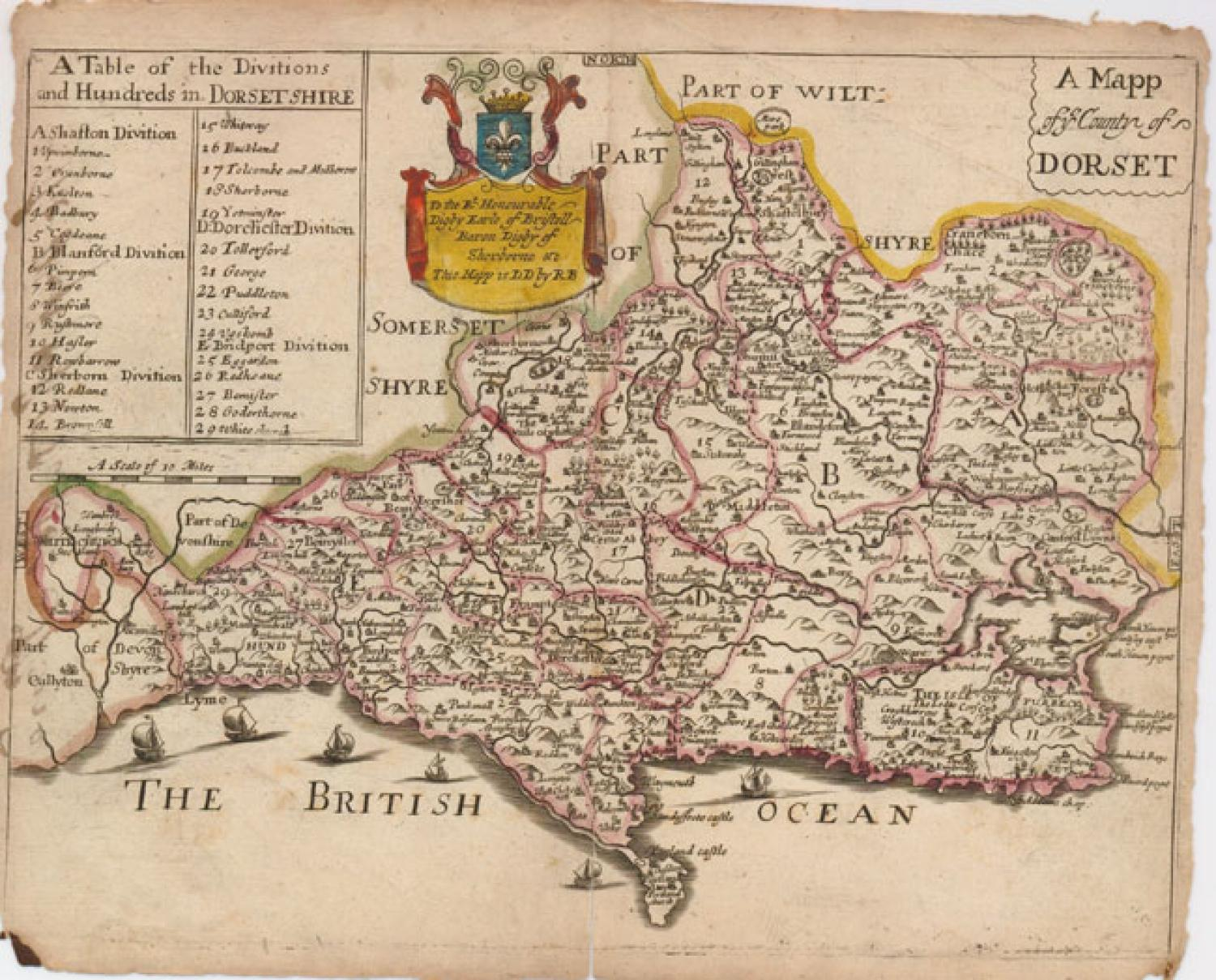 SOLD A Mapp of ye County of Dorset