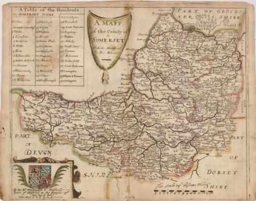 Blome - A Mapp of the County of Somerset