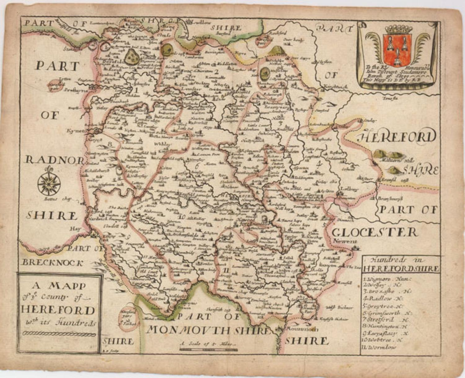 Blome - A Mapp of ye County of Hereford