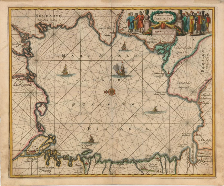 SOLD Paskaert van de Caspise Zee