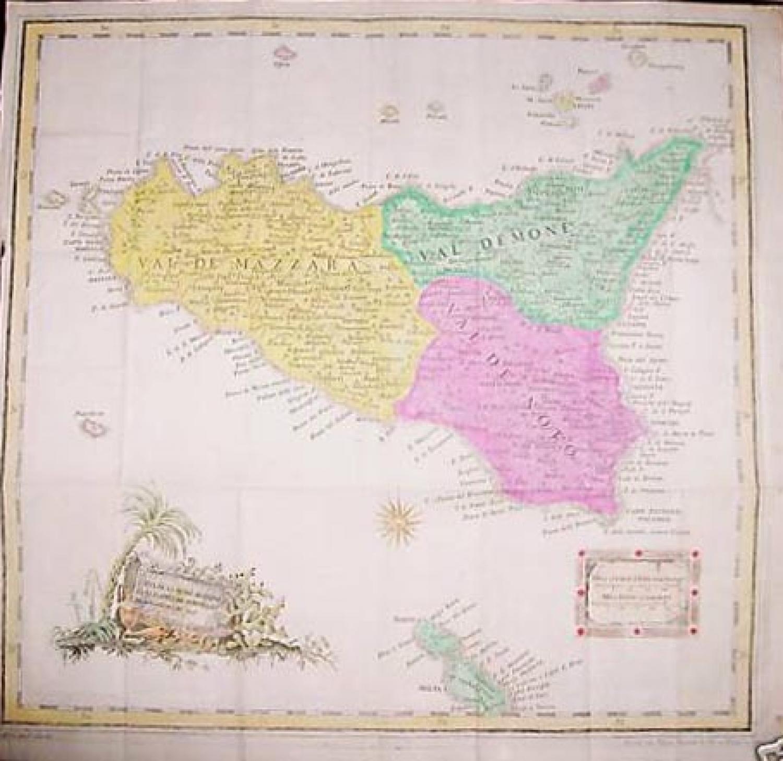 SOLD Carte de la Sicilie Moderne Fait d'Après de Nouvelles Observations en 1778.