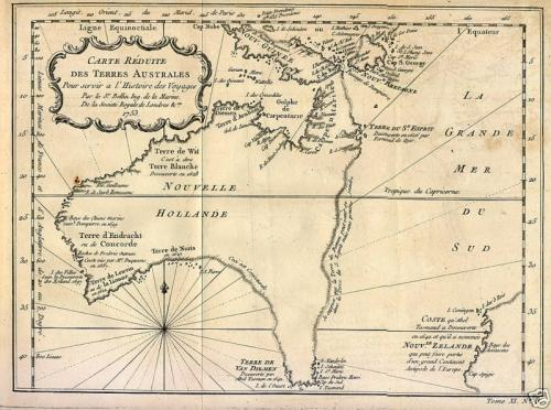 SOLD Carte reduite des Terres Australes