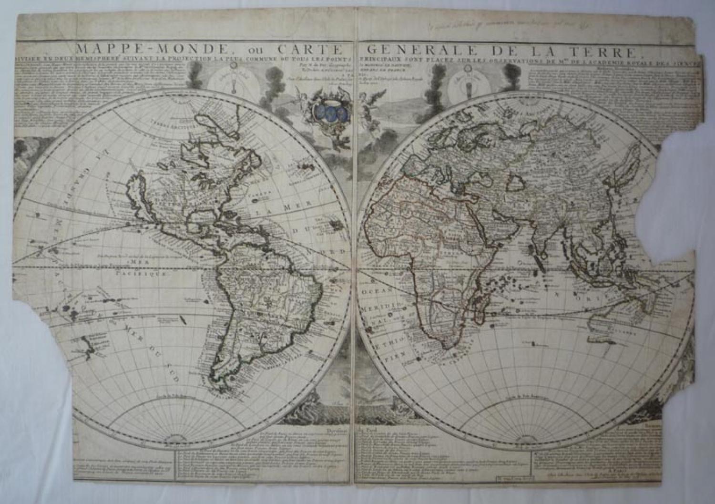SOLD Mappe-Monde, ou Carte Generale de la Terre