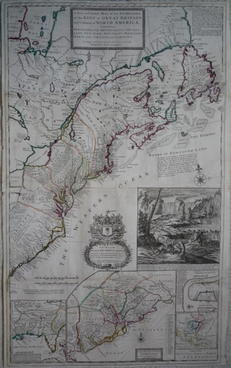 SOLD A New and Exact Map of the Dominions of the King of Great Britain...