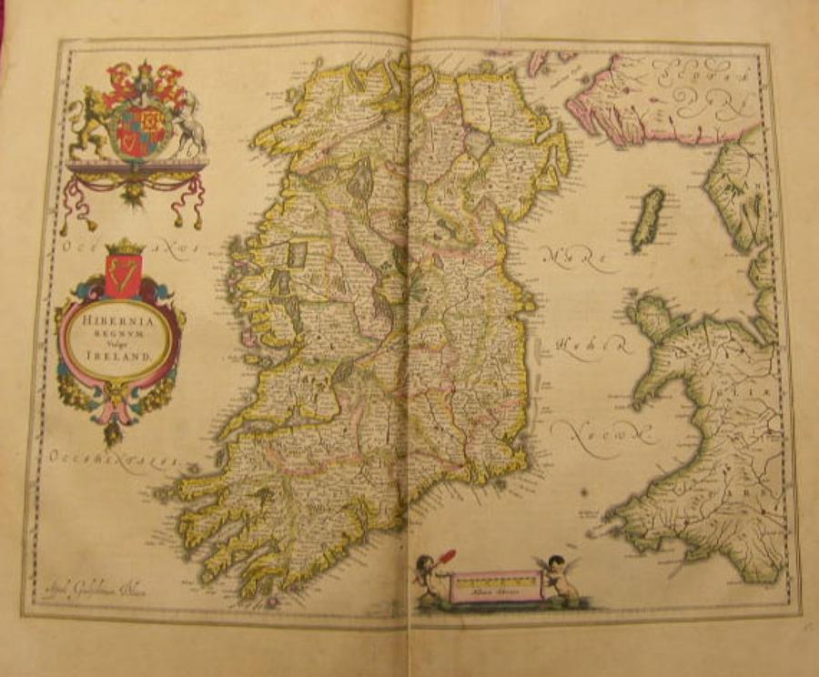 Blaeu - Hibernia regnum vulgo Ireland