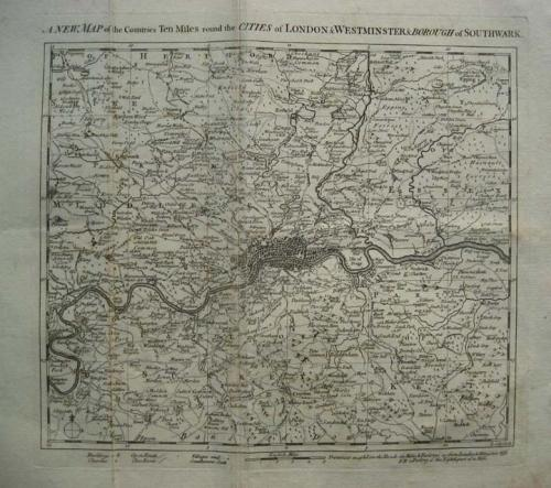 Cole - A new map of London and Westminster..