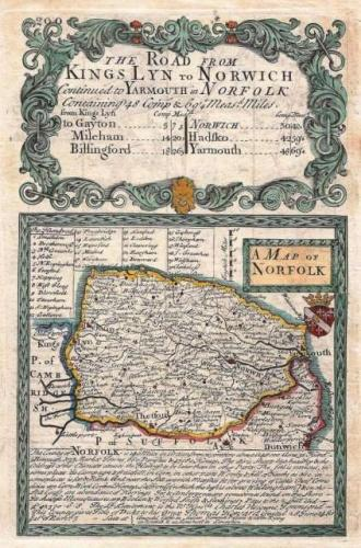 SOLD A Map of Norfolk