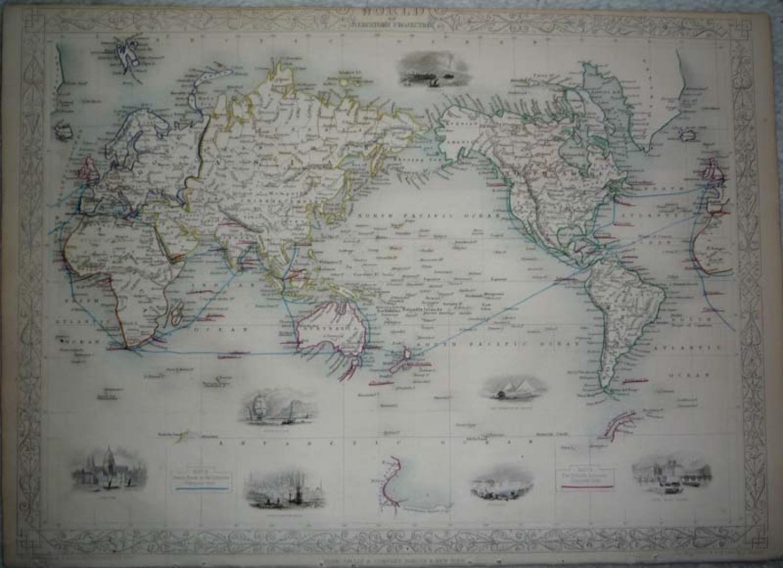Tallis - The World on Mercator's Projection
