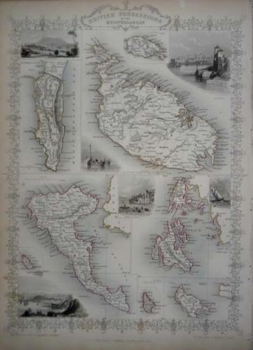 Tallis -British Possessions the Mediterranean