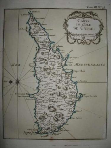 SOLD Carte De L'Isle De Cypre