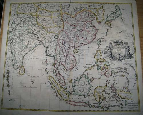 SOLD A New Map Of India & China From the latest Observations.