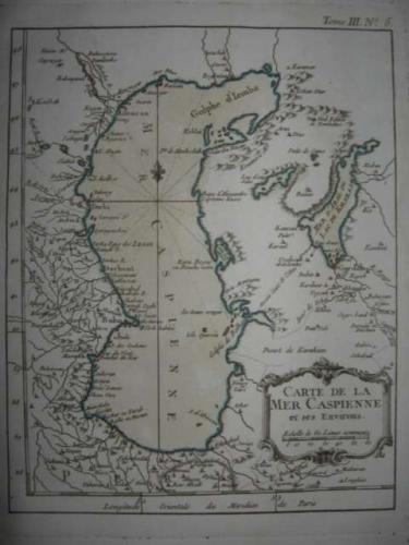Bellin - Carte de la Mer Caspienne