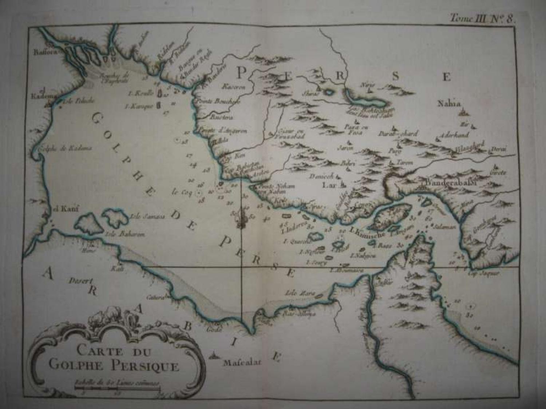 Bellin - Carte De Golphe Persique