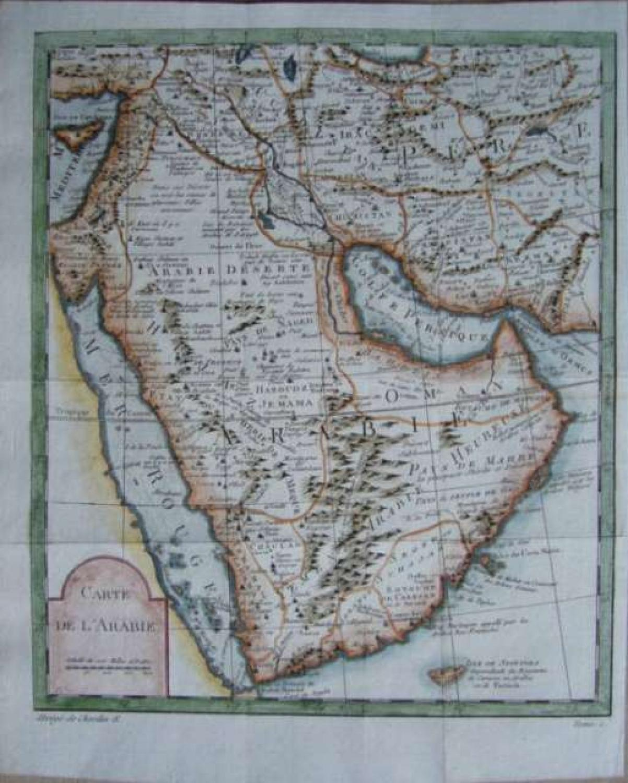 SOLD Carte De L'Arabie