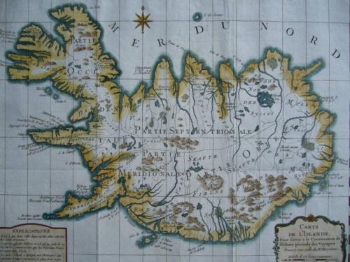 SOLD Carte de L'Islande