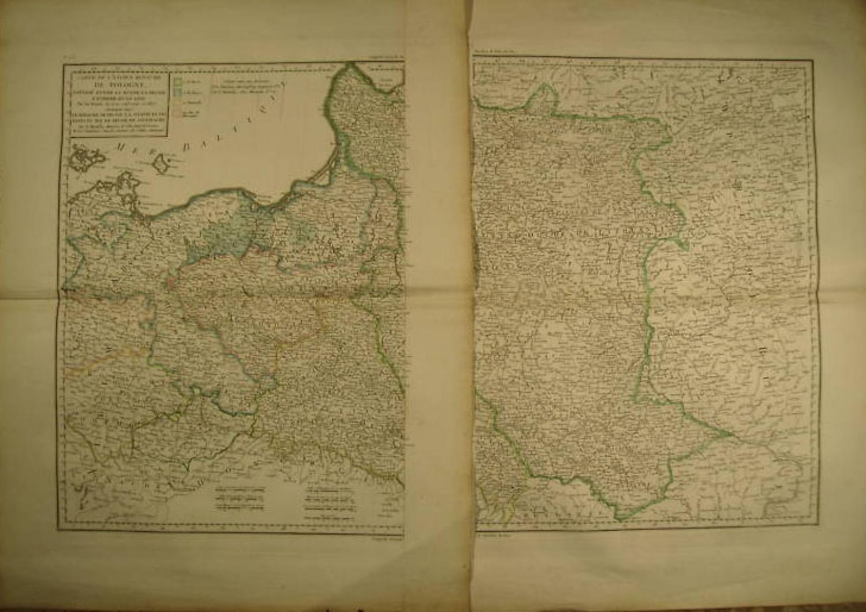 SOLD Carte de l'ancien Royaume de Pologne