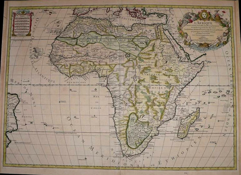 SOLD L'Afrique Divisee suivant l'estndue des ses principales parties . .