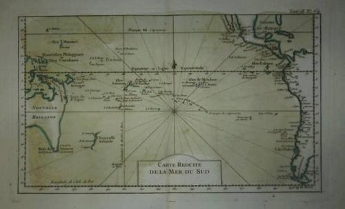 SOLD Carte Reduite de la Mer du Sud