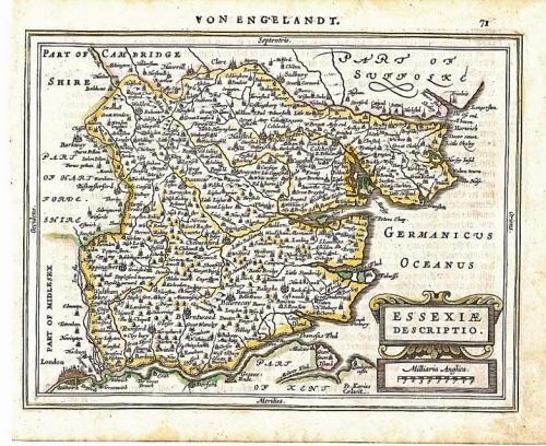 Mercator / Jansson - Essexiae Descriptio