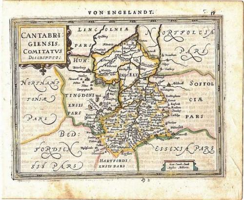Mercator / Jansson -Cantabrigiensis Comitatus