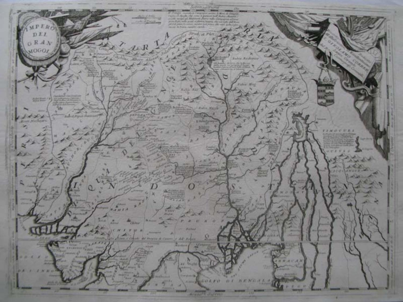 Coronelli - (2 maps) Impero Dell Grand Mogol