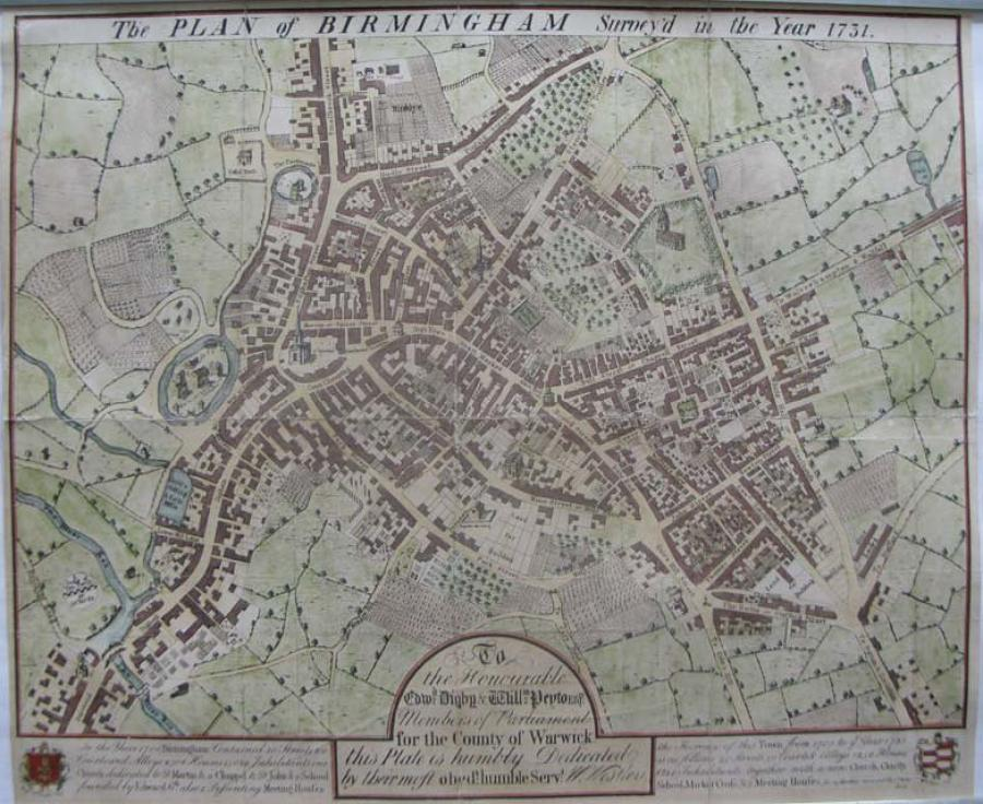 Westley - The Plan of Birmingham survey'd
