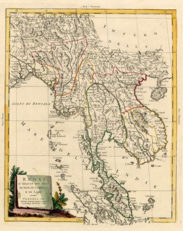 SOLD Regni D'Aracan Del Pegu Di Siam Di Camboge E Di Laos . .