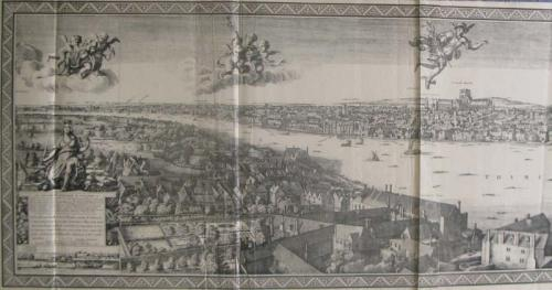 SOLD Panoramic view of Old London A.D. 1647