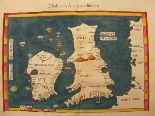 SOLD Tabula Nouva Angliae & Hiberniae